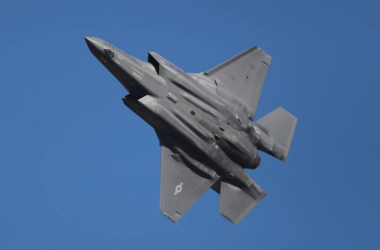 fighter craft in the sky