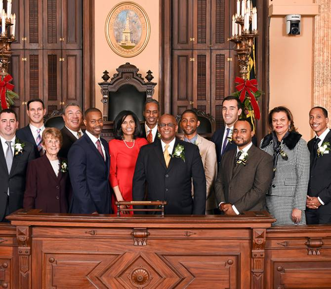 family photo of Baltimore City Council