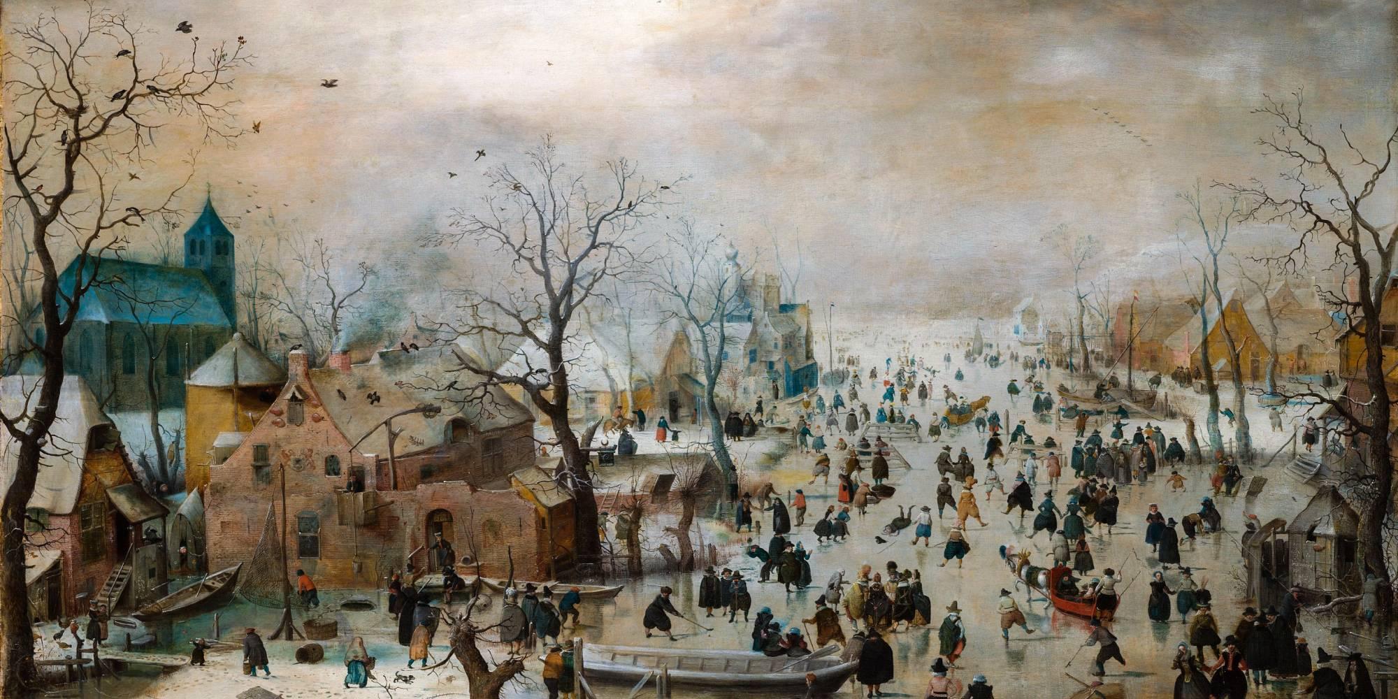 Esta pintura de 1608 del artista holandés, Hendrick Avercamp, muestra a los aldeanos en un canal congelado. Los inviernos fríos eran comunes en Europa entre los siglos XIV y XIX. En la actualidad, los canales de Holanda casi nunca se congelan.