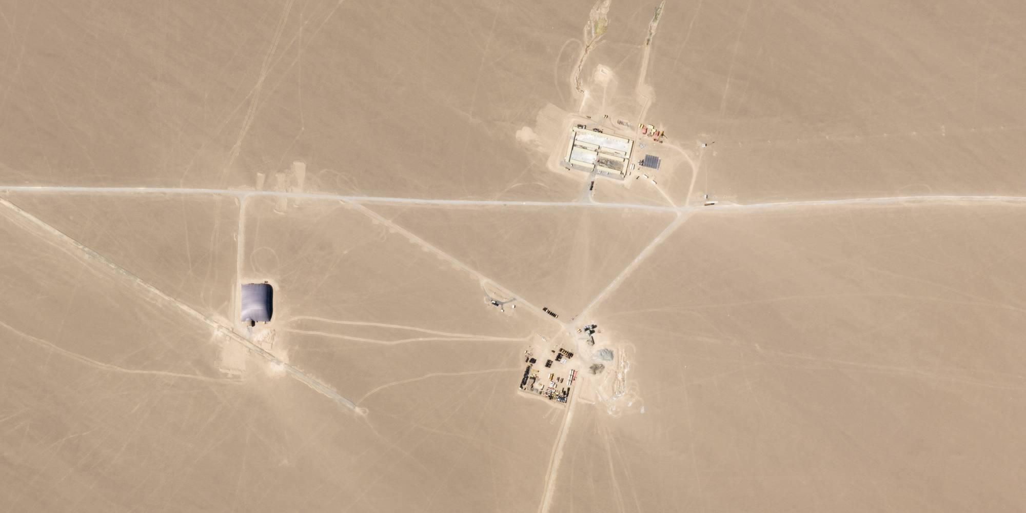 satellite imagery of the desert.